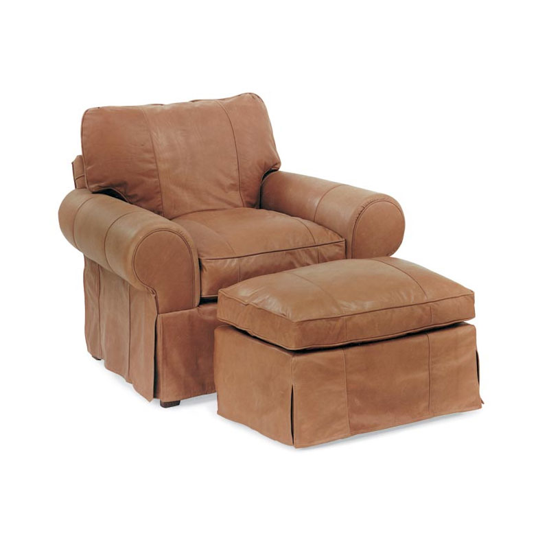 Leathercraft 3572 Louisa Chair and 3573 Louisa Ottoman
