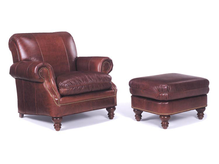 Leathercraft 8752 Chair and 8753 Ottoman