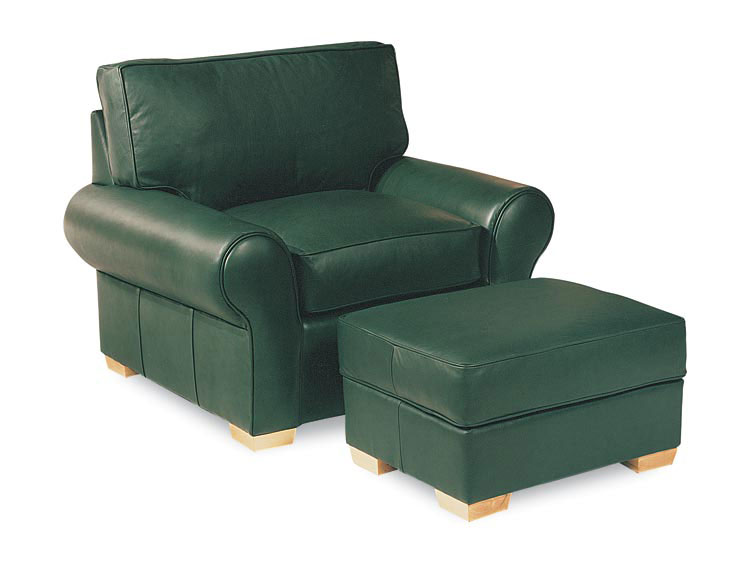 Leathercraft 915-02 Chair and 915-03 Ottoman