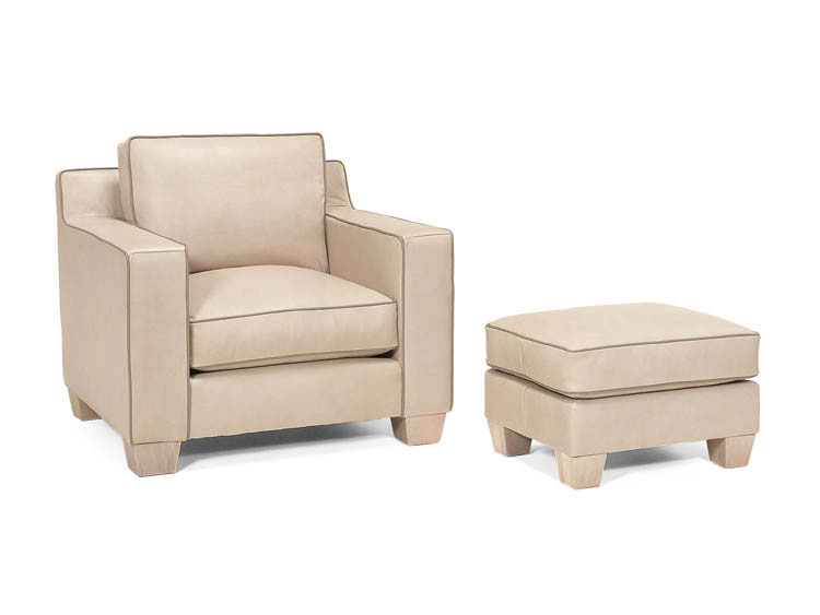 Leathercraft 919-02 Chair and 919-03 Ottoman
