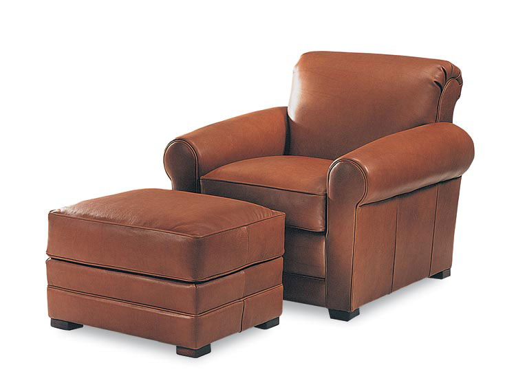 Leathercraft 925-02 Coventry Chair and 925-03 Coventry Ottoman