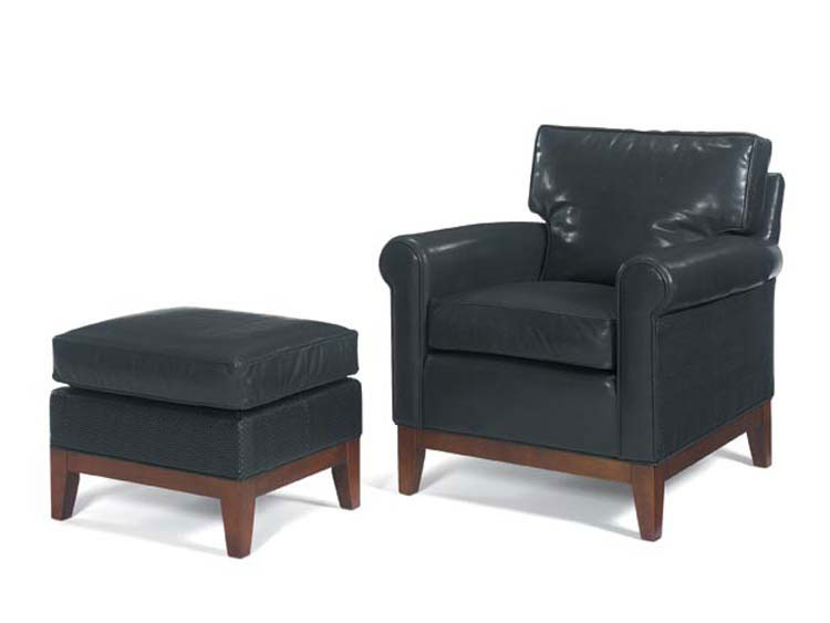 Leathercraft 955-02 Brennan Chair and 955-03 Brennan Ottoman