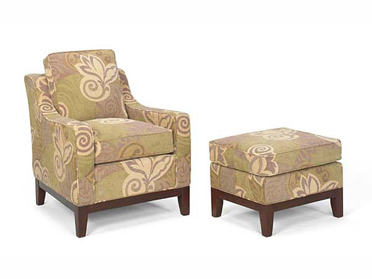 Leathercraft 960-02 Hayley Chair and 960-03 Hayley Ottoman