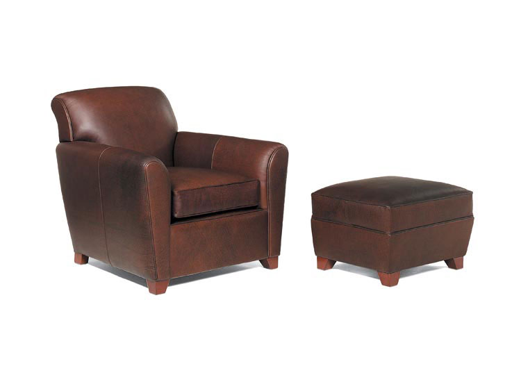 Leathercraft 975-02 Paloma Chair and 975-03 Paloma Ottoman
