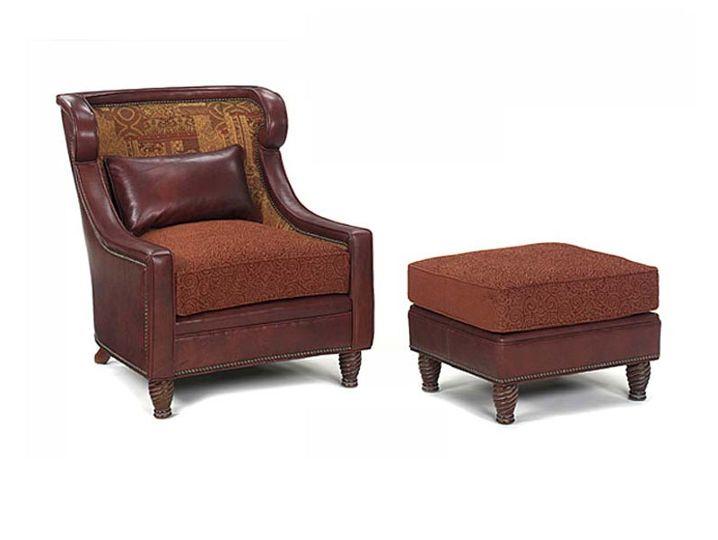 Leathercraft 101-17 Ashley Wing Chair and 103-4 Ashley Ottoman