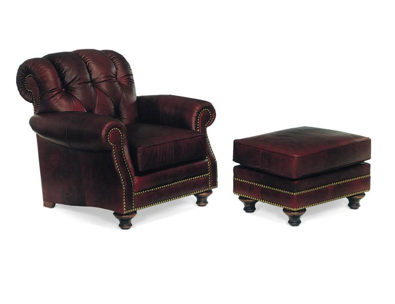 Leathercraft 1012 St. Lucia Chair and 1013 St. Lucia Ottoman