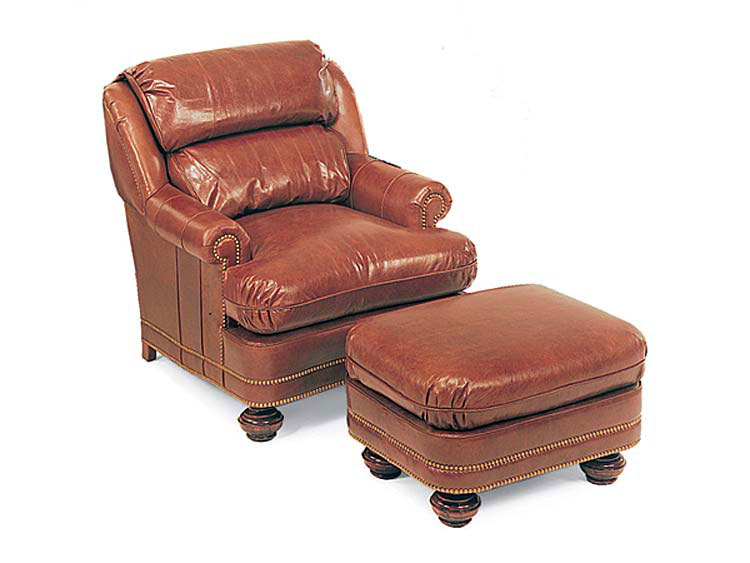 Leathercraft 1042 Chair and 1043 Ottoman