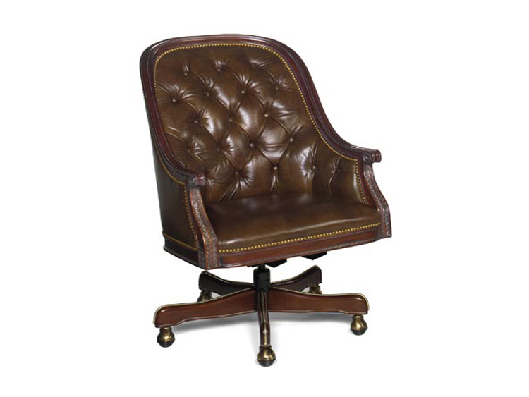 Leathercraft 683-28 Draper Executive Swivel Chair