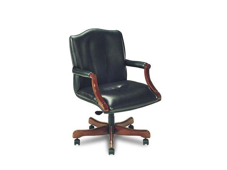 Leathercraft 7603-OA Harvard Open Arm Tilt Swivel Chair
