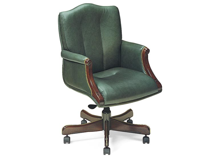 Leathercraft 7603-UA Harvard Tilt Swivel Chair