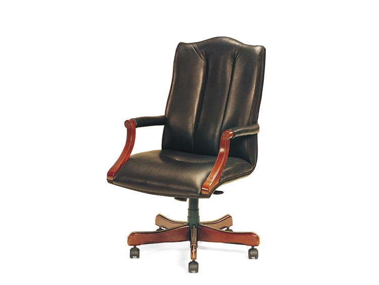Leathercraft 7603H-OA Harvard High Back Tilt Swivel Chair