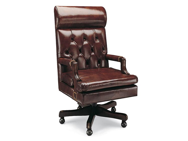 Leathercraft 763-18HR Judge's Tilt Swivel Chair