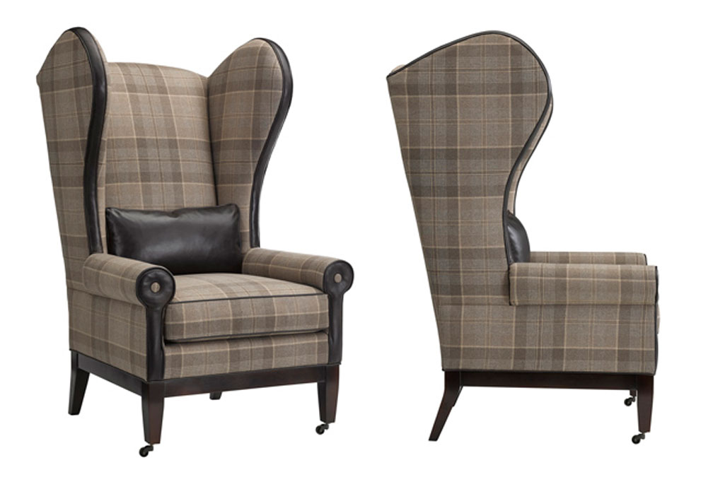 Leathercraft 1321-17 Wolfgang Wing Chair in Fabric