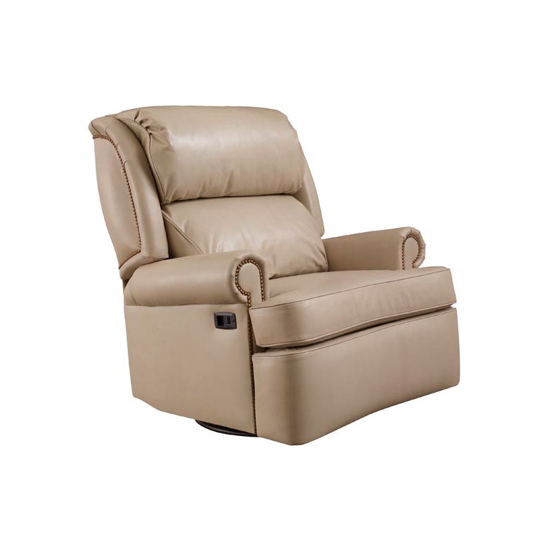 Leathercraft 2057SRM Mathis Heavy Duty Swivel Rocker Recliner w/Motor
