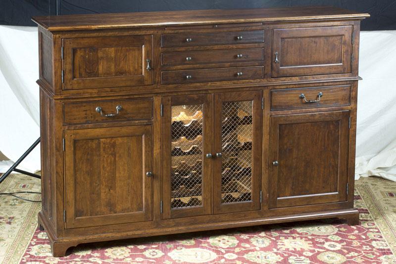 Mackenzie Dow Brighton Buffet With Seeded Glass Doors And Wine Rack 1