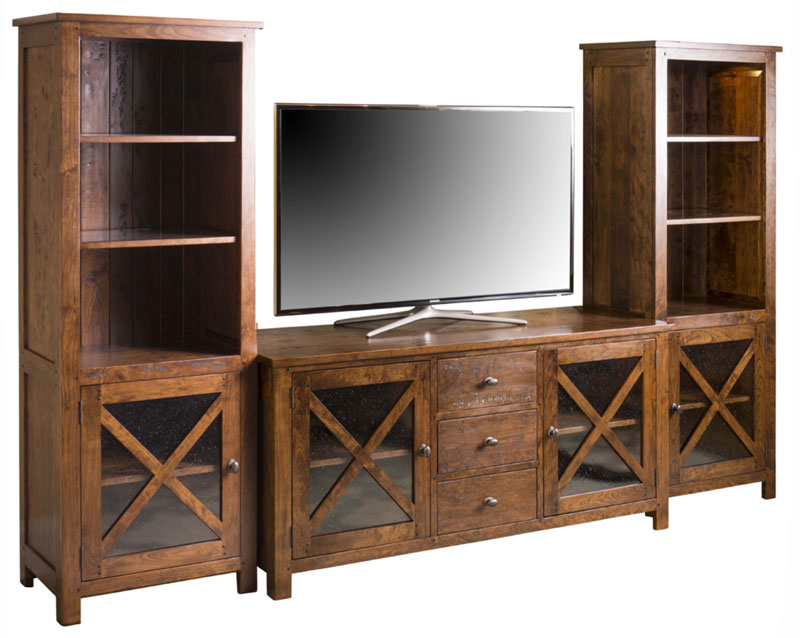 Mackenzie Dow Plaza TV Console and Pier Cabinets