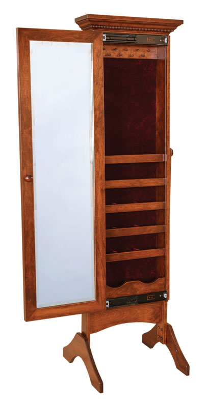 Cheval Mirror with Jewelry Storage #1362