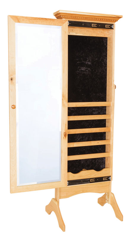 Cheval Mirror with Jewelry Storage #1468