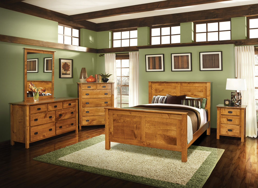 Dutch Country Mission Collection in Rustic Quartersawn White Oak with a Tan Bark Stain