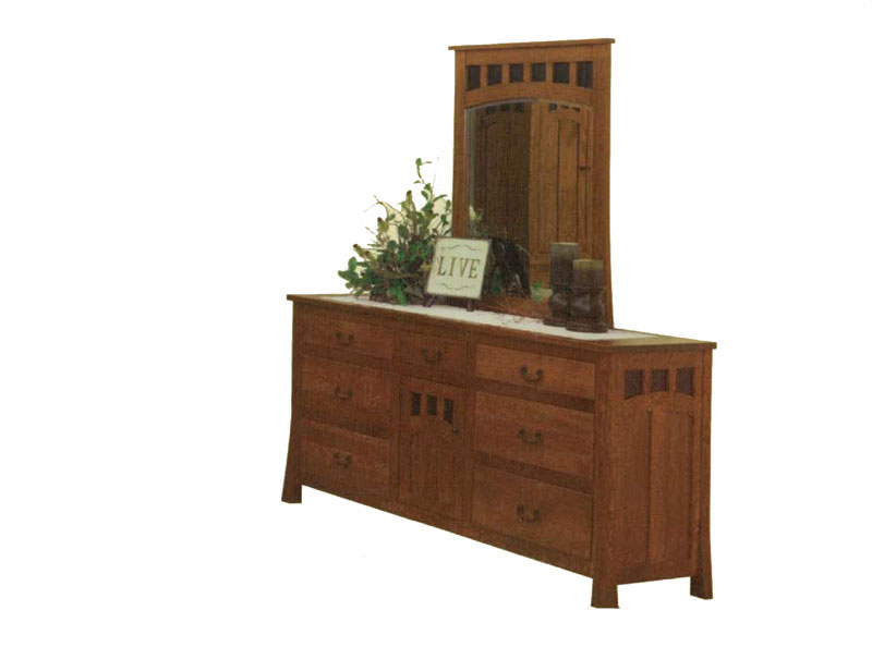 "Bridgeport 72"" Dresser and  Center Mirror (sold separately)"