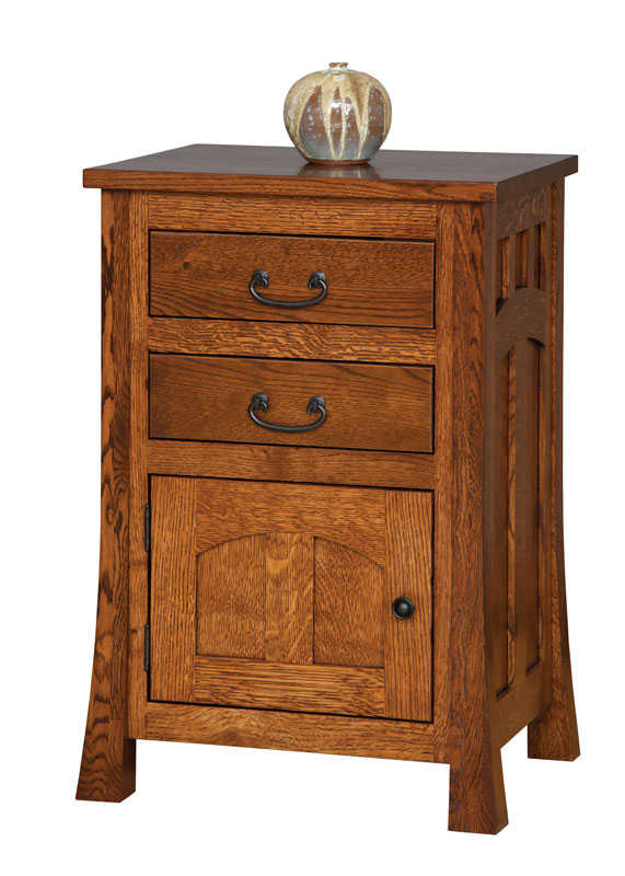Bridgeport  2 Drawer 1 Door Nightstand