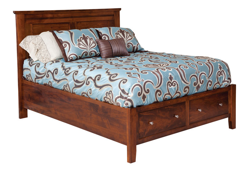 Hyland Park  Panel Bed with Storage Drawers