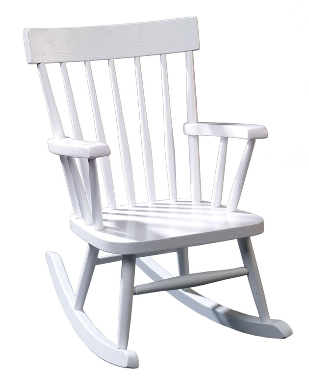 Child's Comback Rocker Painted White