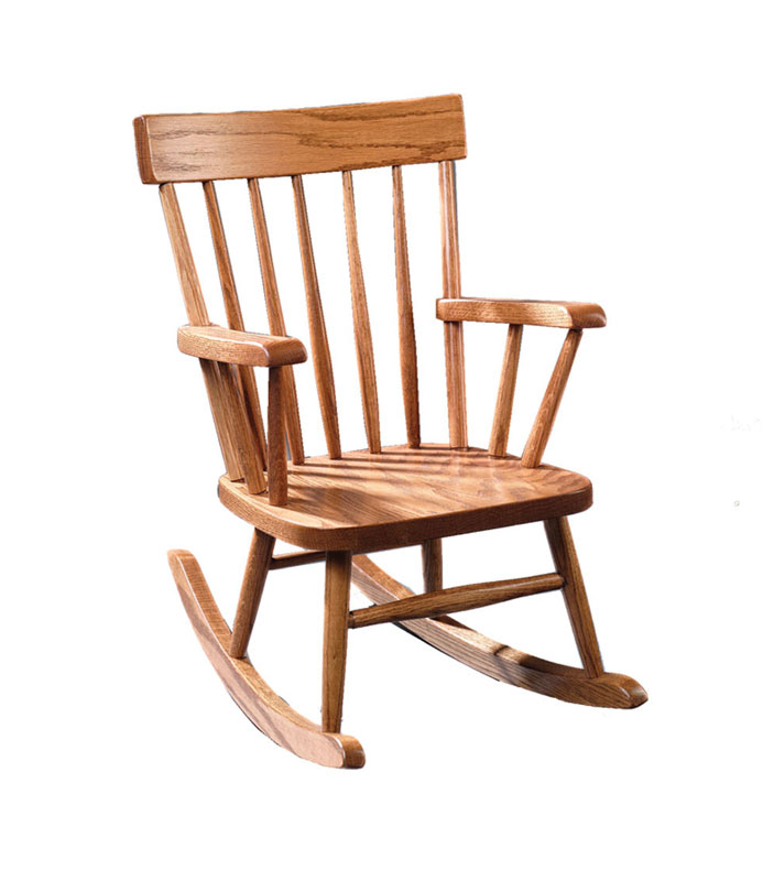 Child's Comback Rocker in Red Oak with Fruitwood Stain
