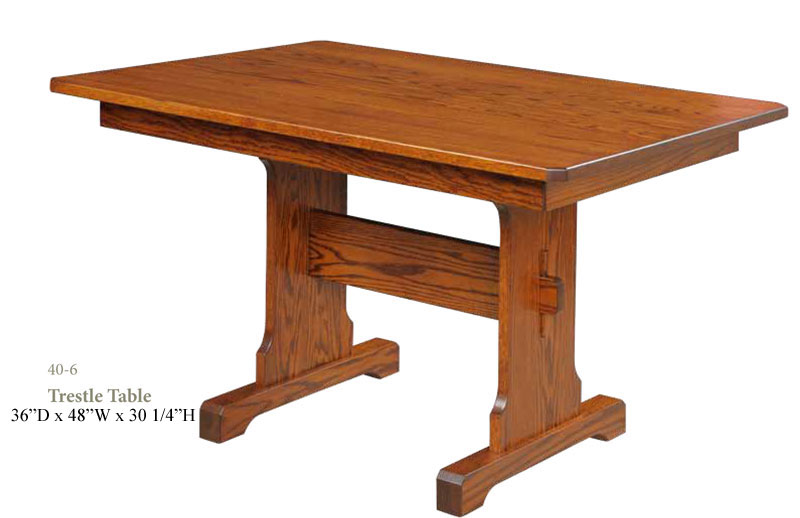 Nook Set Trestle Table   Dimensions