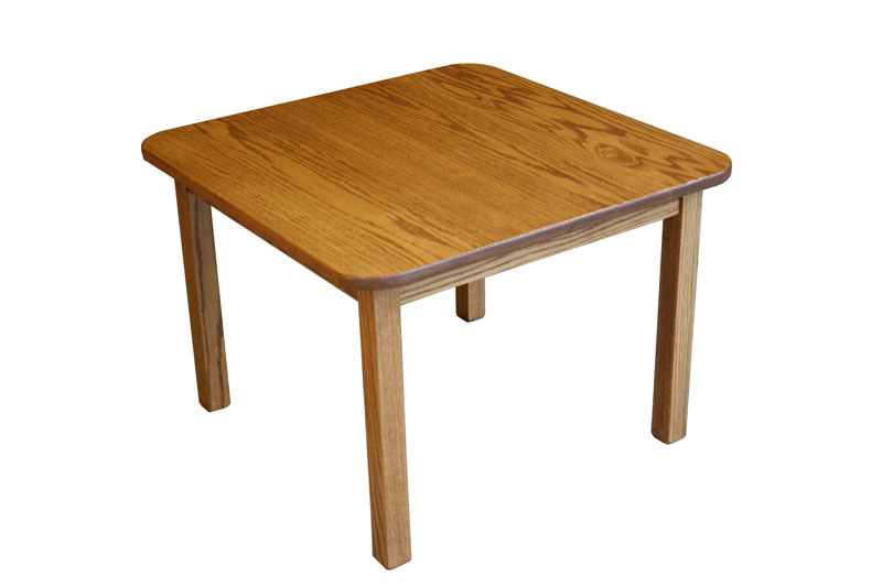 "30"" x 30"" Custom Children's Comback Table with Square Legs in Red Oak and OCS-104 Seely Stain"