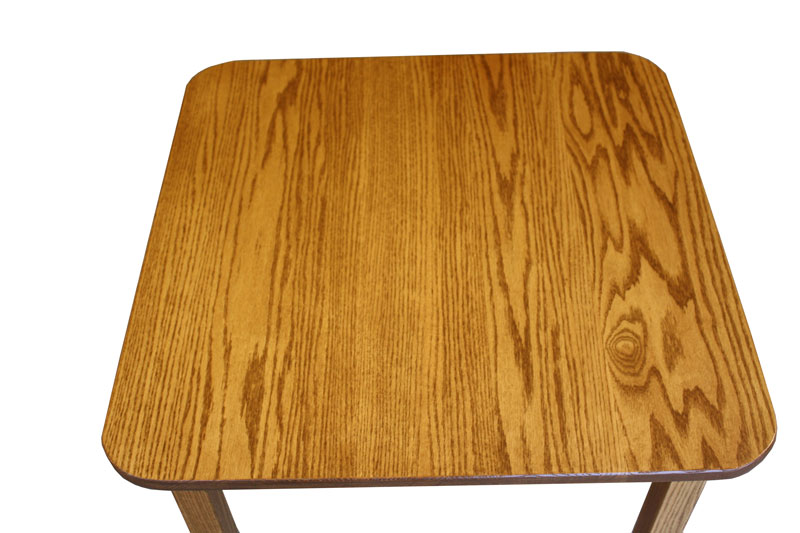 "30"" x 30"" Custom Comback Table Top in Red Oak with OCS-104 Seely Stain"