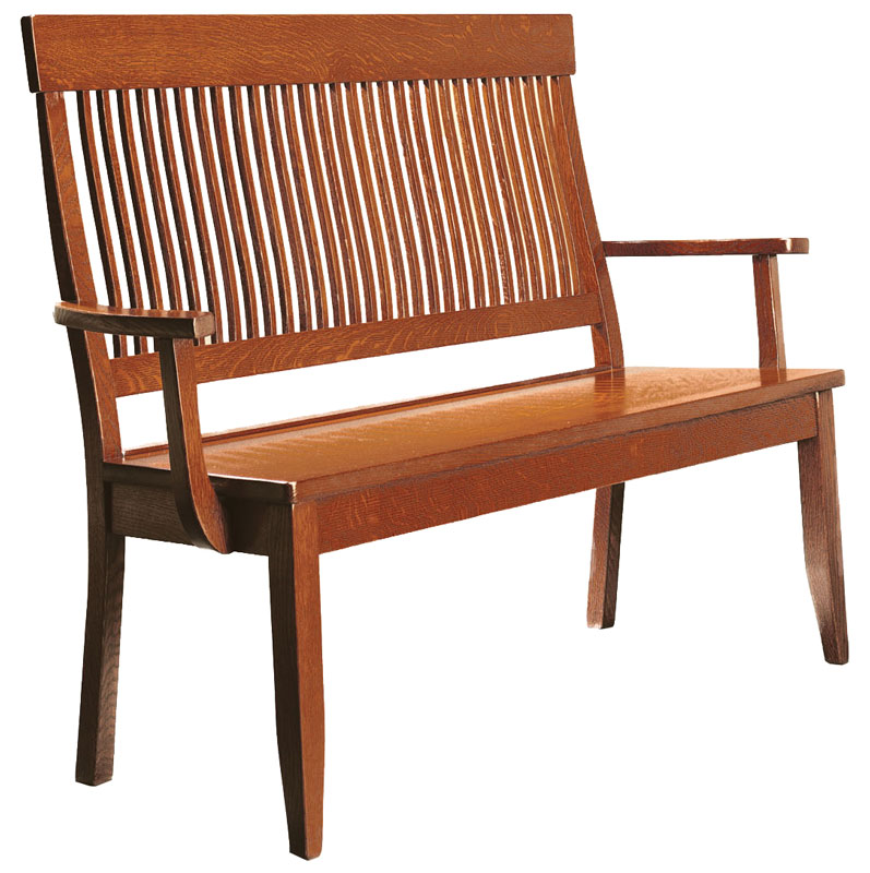 Hearthside Arm Bench In Cherry With S 14 Stain