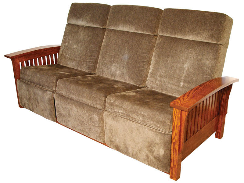 Mission Recliner Sofa Ohio Hardword Upholstered Furniture