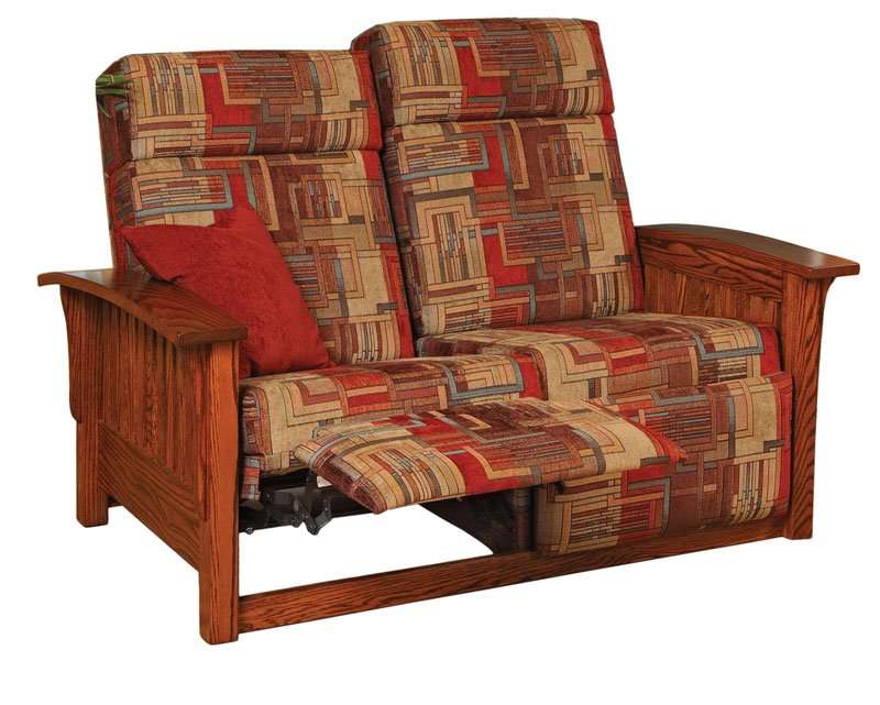 Mission Double Recliner Love Seat Ohio Hardword