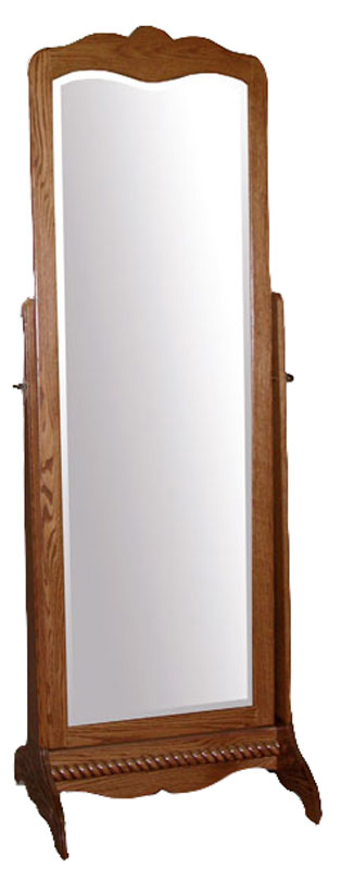 Classic Cheval Mirror with a Beveled Mirror