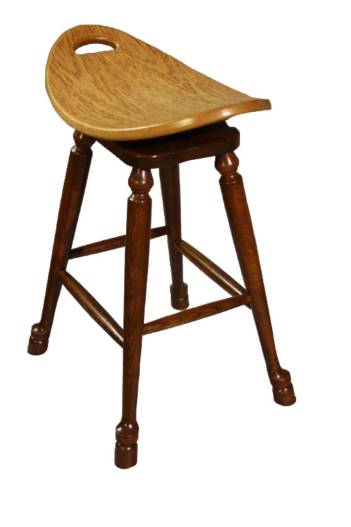 Swivel Saddle Stool with Hoofed Legs in Red Oak with Two-Tone Stain  sc 1 st  Ohio Hardwood Furniture & Swivel Saddle Stool - Ohio Hardword u0026 Upholstered Furniture islam-shia.org