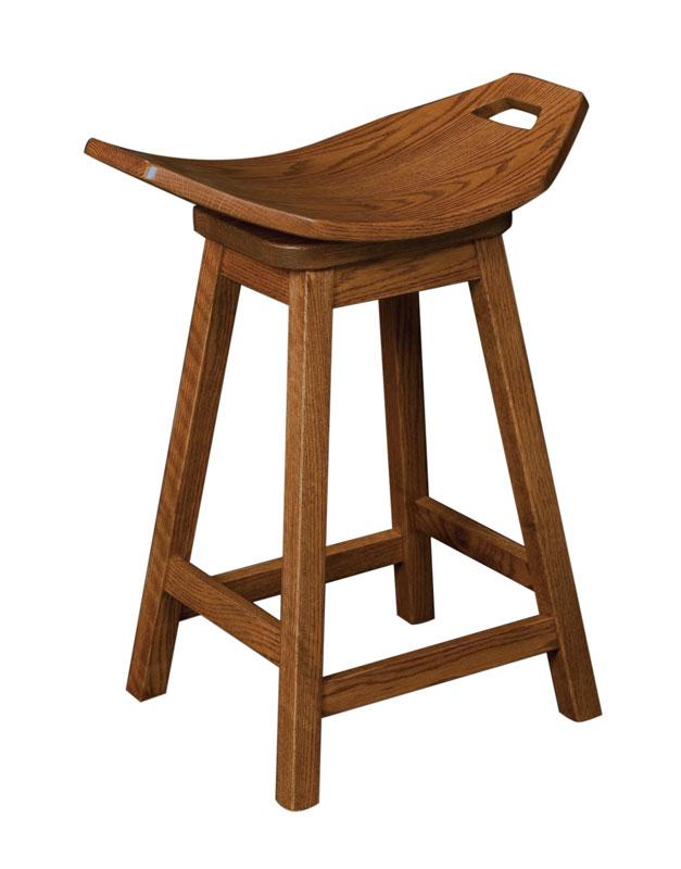 Mission Swivel Saddle Stool Ohio Hardword Amp Upholstered