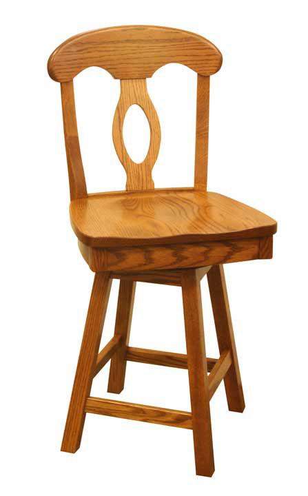 Napoleon Swivel Bar Stool Ohio Hardwood Furniture