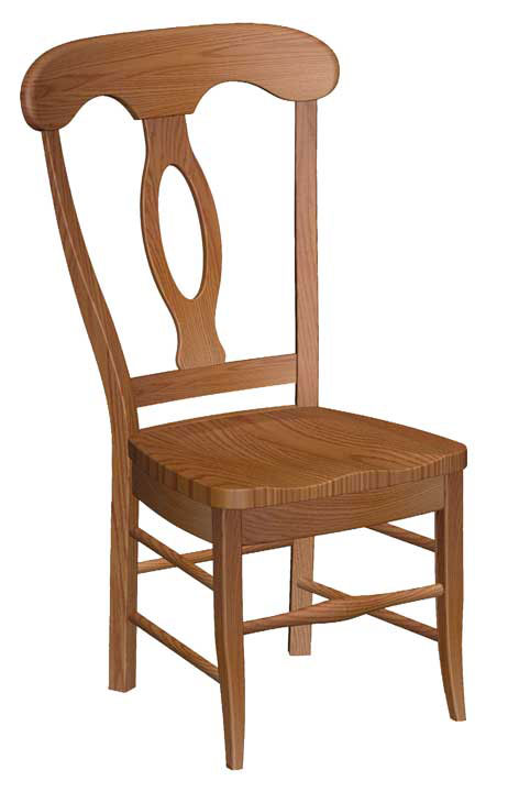 Attrayant Low Napoleon Side Chair In Red Oak With A Wood Seat