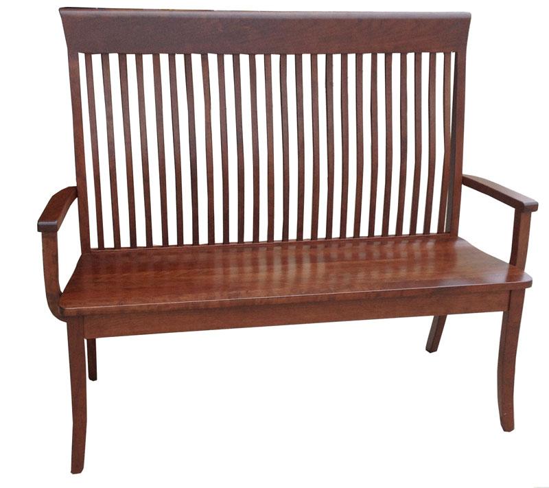 Old World Shaker Bench Ohio Hardwood Furniture
