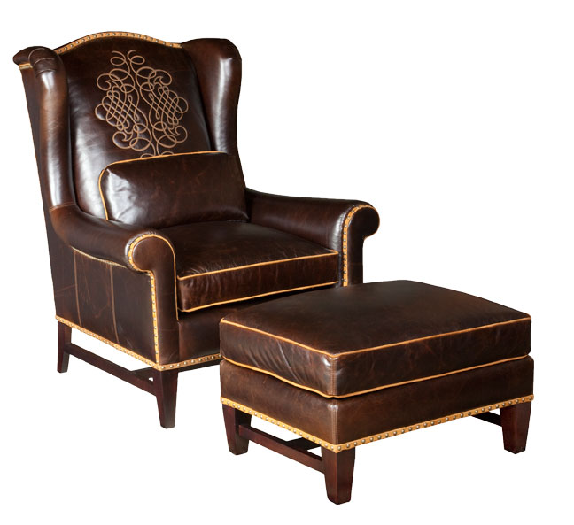Our House 508 Wing Chair and 508-O Ottoman