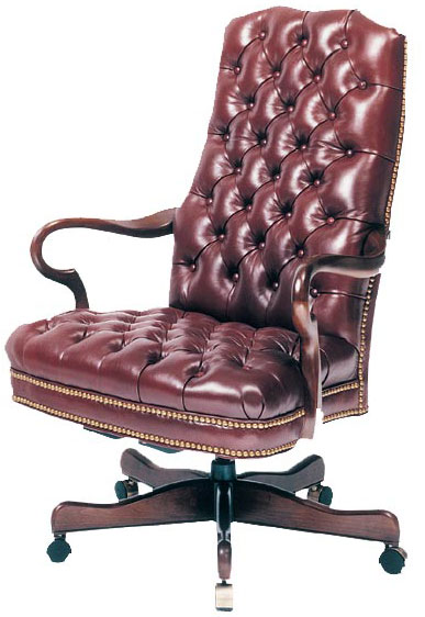 Our House GT-106-S Goose Alley Tufted Gas Tilt Swivel Chair