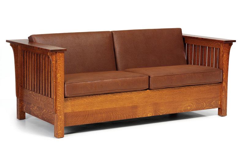1800 Mission Sofa Bed In Quartersawn White Oak Closed