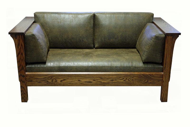 1875 Mission Loveseat Ohio Hardwood Furniture