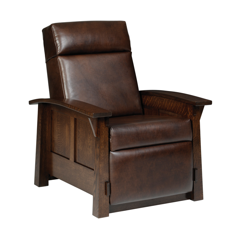 5600 Olde Shaker Recliner Recliner in Quartersawn White Oak and Leather