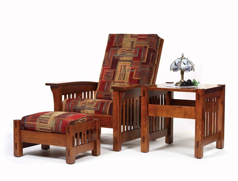 Morris Mission Ottoman Ohio Hardword Upholstered Furniture