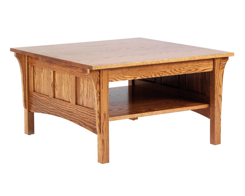 Coffee Table Is Amish Handcrafted In A Classic Shaker Style Shaker
