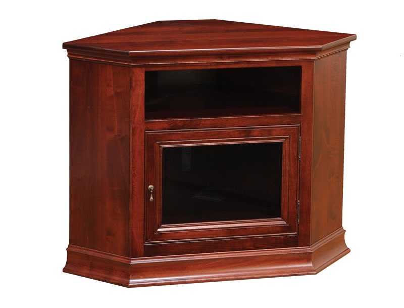 Breckenridge 28 Corner Tv Stand Shown In Brown Maple With Ocs 225 Mission