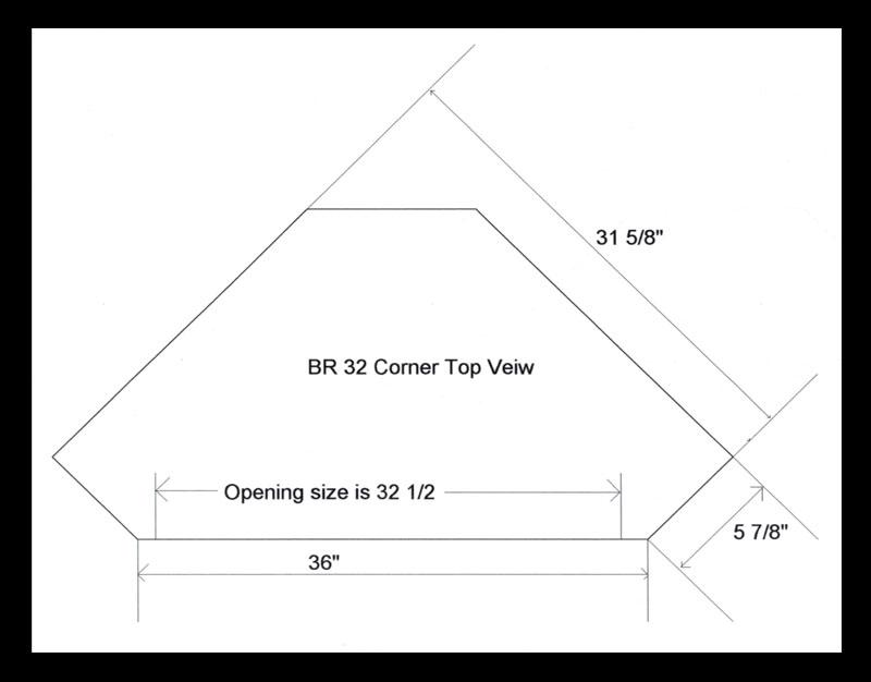 Breckenridge 32 Corner Tv Stand Ohio Hardword