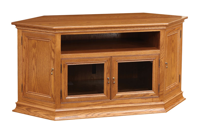 Breckenridge #43 Corner or Wall TV Stand in Red Oak